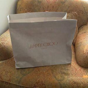 Jimmy Choo London shopping tote bag